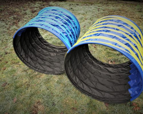 Hoopers-Tunnel: Lauffläche Grip,  Durchmesser 80 cm, Länge 1 Meter. Für Hoopers oder auch  für große Rassen beim Agility, für ängstliche Hunde beim Mut-mach-Training  oder auch als Vorbereitung für Hunde, die bisher noch keinen Agility-Tunnel kennen.